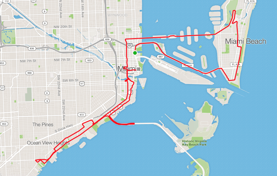 miami marathon course map How To Run Your Best Miami Marathon Or Half Marathon Amy Says So miami marathon course map